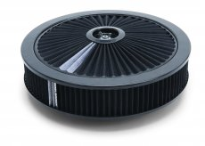 "Pro-Flo Black Round 14"" Air Cleaner with 3"" Pro-Flo Element (Black)"