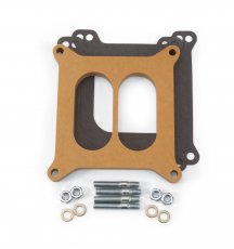 "Carburetor Spacer - 4150-Style 1/2"" Divided Spacer, Wood Fiber Laminate"
