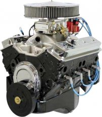 350ci Crate Engine Dressed Long Block with Carburetor