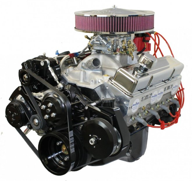 383ci SBC Stroker Crate Engine Drop in ready Long Block with Carburetor