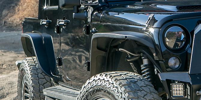 Jeep Wrangler Skärmbreddare & Stänkskydd